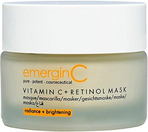 emerginC Vitamin C + Retinol Mask - Exfoliating Kaolin Clay Face Mask to Help Brighten the Complexion (1.7 Ounces, 50 Milliliters)