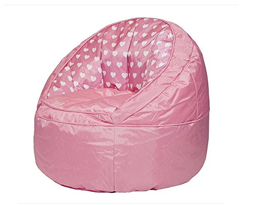 Heritage Kids Pink Hearts Toddler Bean Bag Chair, Pink by Heritage Kids