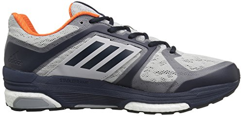 Adidas Mens Supernova Sequence Boost 8 Scarpa Da Corsa Grigio Chiaro Heather / Dark Navy / Mid Night Grigio
