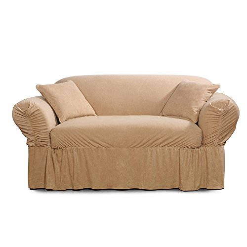- SureFit Faux Suede - Loveseat Slipcover  - Taupe (SF38887)