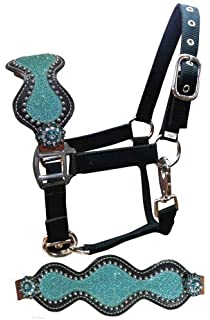 Showman OVER /& UNDER WHIP Leather BLACK /& WHITE Ombre Tassel /& Rhinestone Concho