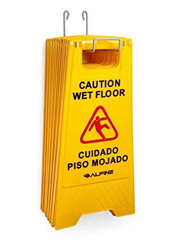 Alpine Industries Holder for Caution Wet Floor Signs - Holds 6 signs