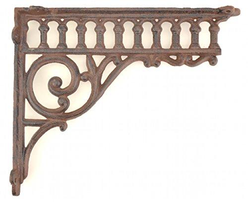 Wall Shelf Bracket Ornate Column Pattern Cast Iron 10.625 ...
