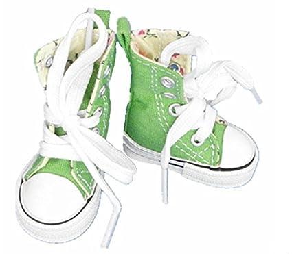 4576352acc73a Amazon.com: Green Canvas Shoes For Paola Reina , Tilda,1/3 Bjd Doll ...