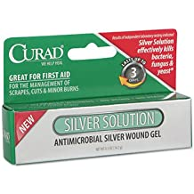 Curad Silver Solution Antimicrobial Gel 0.50 oz ( Pack of 2)