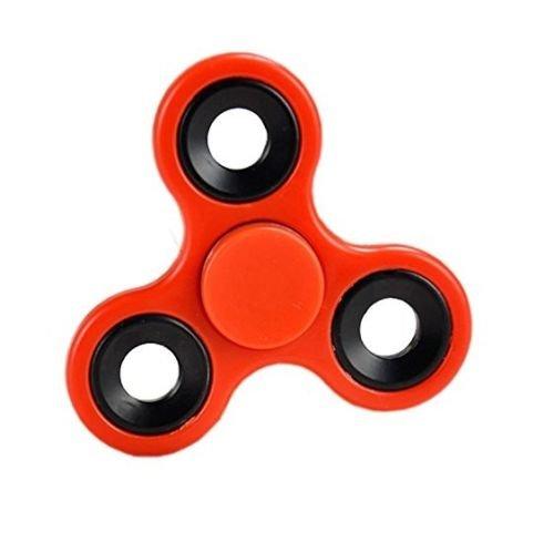 Fidget mano Spinner - Lo stress riduttore, Stress Relief, Autismo - ROSSO CON anelli neri