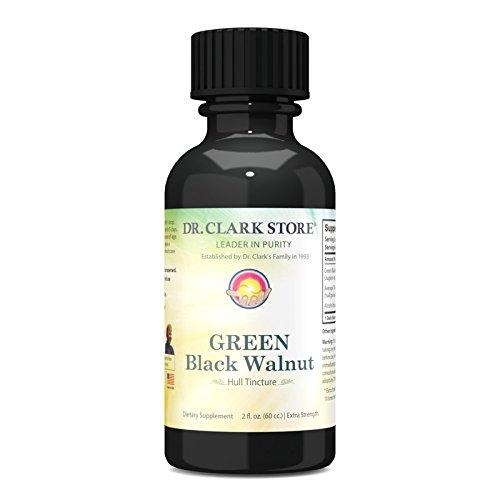 Original GREEN Black Walnut Hull Tincture (Extra Strength) by Dr. Hulda Clark, 2 oz