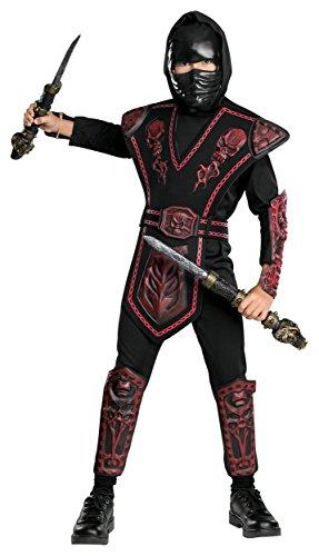 Skull Warrior Ninja Child Costume Red -