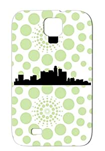 Miscellaneous Art Design City Line Black TPU Case Cover For Sumsang Galaxy S4