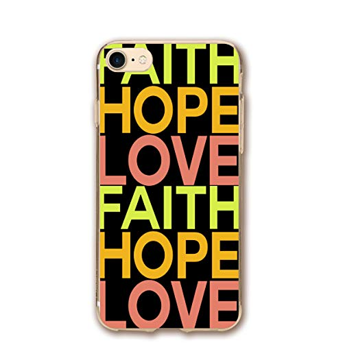 Phone case Compatible with iPhone 7 iPhone 8 FAITHHOPELOVE-01.png Lightweight Anti-Fingerprint Slim Soft Covers