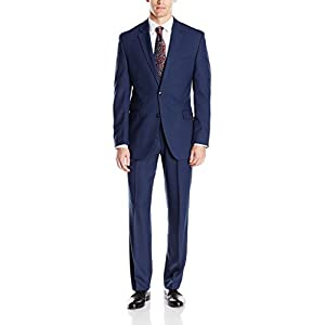 Perry Ellis Men's Slim Fit Suit with Hemmed Pant