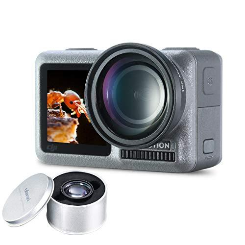 ULANZI OA-5 OSMO Action Macro Lens Aluminum Alloy 15X Super Macro Lens Close-Up for DJI OSMO Action Camera Photography Videomaking Accessories