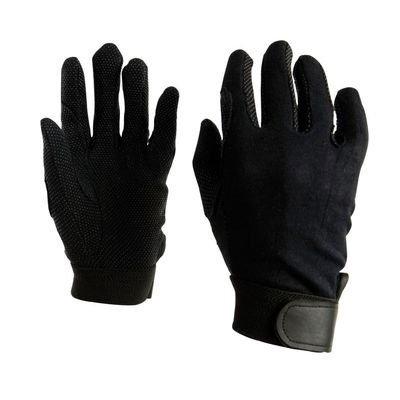 Dublin Good Hands Track Riding Gloves - Black, Small - Good Hands Track Gloves
