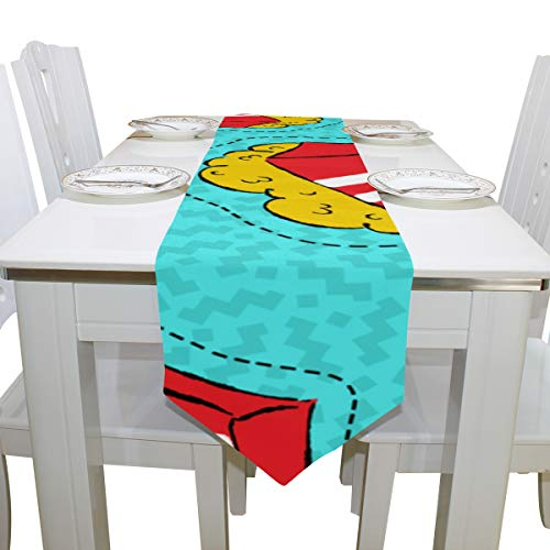 Liaosax Table Cloth Men Small Bucket Cloth Cover Table Runner Tablecloth Kitchen Dining Room Home Decor Indoor 13x90 Inch Simple Table Cloth -