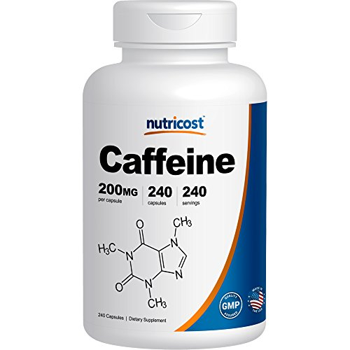 Nutricost Caffeine Pills - 200mg Capsules - 240 Count
