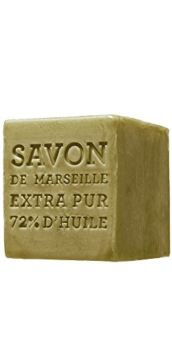 Compagnie de Provence Savon Marseille Olive Soap Cube - 400 grams - Made in France