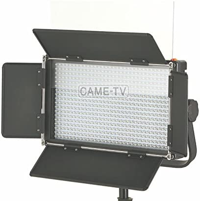 Soft Diffusion Panel Came-TV 576 Dimmable Bi-Color LED Light with V-Mount Battery Plate Carry Bag Includes 100-240V Worldwide AC Adapter