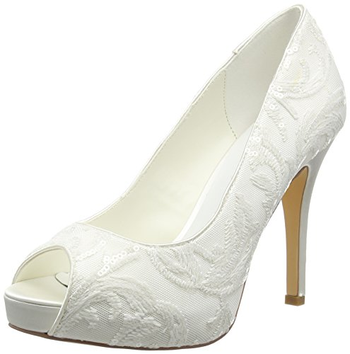 Mujer 04 Blanco White De off Tacón Keila Zapatos Menbur fg7qFq
