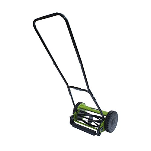 ALEKO GHPM12 5-Blade 12 Inch Hand Push Lawn Mower Adjustable Grass Cutting Height