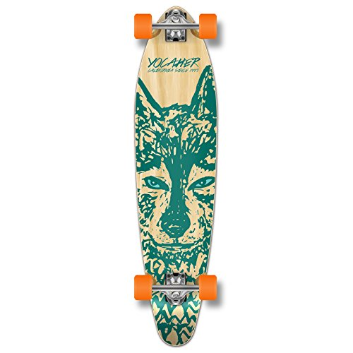 Yocaher Spirit Wolf Longboard Complete Skateboard Cruiser - Available in All Shapes (Kicktail)