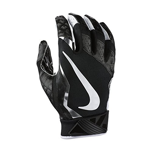 - Nike Men's Vapor Jet 4 Football Gloves-Black/Metallic Silver-Small