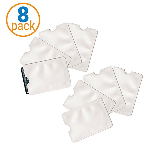 SafeT Sleeves RFID Protectors (Total of 8 Sleeves) (Best Way To Eliminate Credit Card Debt)