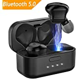 wireless earbuds,true wireless bluetooth earbuds bluetooth wireless headphones blueooth 5.0 with 3D Stereo Bass Sound wireless earbuds with charging case for iphone 8/x/7/apple watch/Android