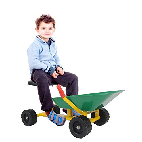 """Green 8"""" Heavy-duty sand dumper with 4 Wheels Toy & Hobbies Outdoor & Structures Sand & Water Sandbox Toys and Sandboxes Home Games Play Vehicles Trucks & Construction Vehicles Formatting hobby from Lek Store"""
