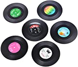 Vinyl Record Coasters for Drinks, Music Gifts for Men
