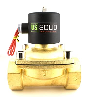 "2"" Brass Electric Solenoid Valve 12VDC, Normally Closed (Water, Diesel ...)"