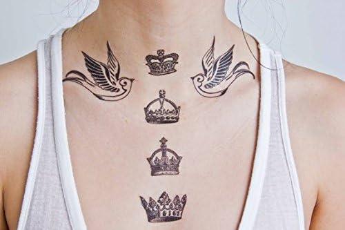 Tatuaje Temporal Tattify - Corona - Dios salve a la Reina (Juego ...