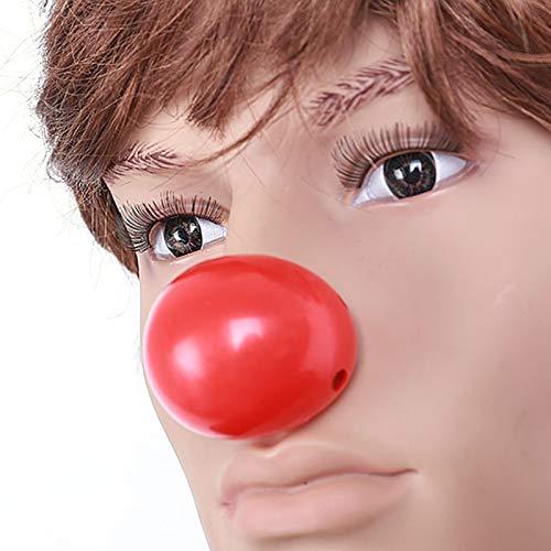 Fenghong Nez de Clown Rouge Maquillage Cosplay Nez de Clown Rouge en Plastique Nez en Plastique serrant Le Festival dhalloween Robe de c/él/ébration Party Custome