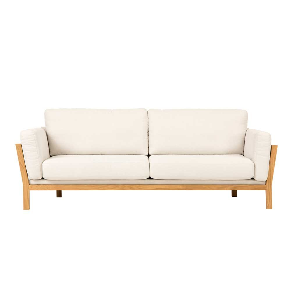 Retro Couch in Creme Eiche modern Pharao24