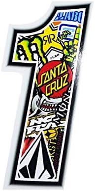 Sticker Bomb 10/x 7.5/cm Racing Number 2