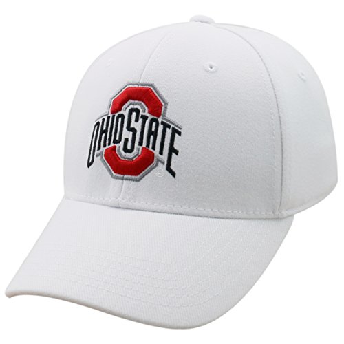 Top of the World Ohio State Buckeyes Men's Memory Fit Hat Icon, White, One Fit