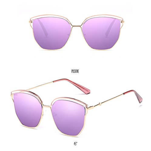 Glasses Eyewear Coolest Street Sun Unisex UV Tide Frame Driving Mirror Women Polarized Sunglasses Special Men Purple Protection Fashion Sunglasses Lens purple qfwvptcd