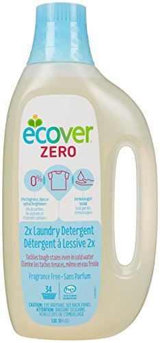 Ecover Natural Laundry (Ecover Laundry Liquid 2.5X Concentrated Zero, 51 Fluid Ounce)