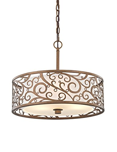 Burnished Gold Pendant - Fifth and Main HD-1073 Carousel 3 Light 18
