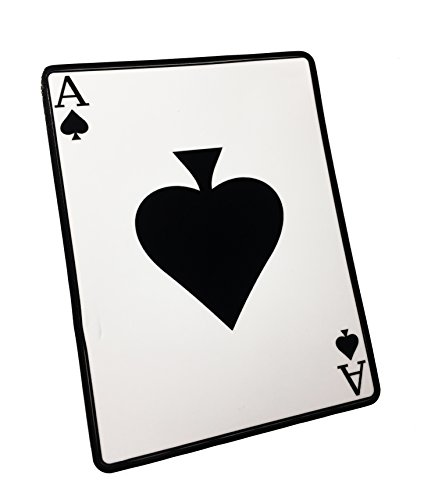The Reflective White Ace of Spades Death Dealer Card, Decal/Sticker - (EMPIRE TACTICAL USA)