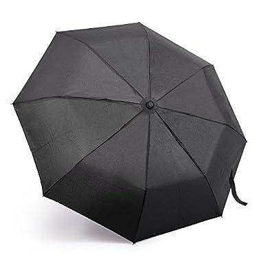 Travel Umbrella, Oak Leaf Automatic Compact Umbrella Foldable Rain Umbrella for Easy Carrying
