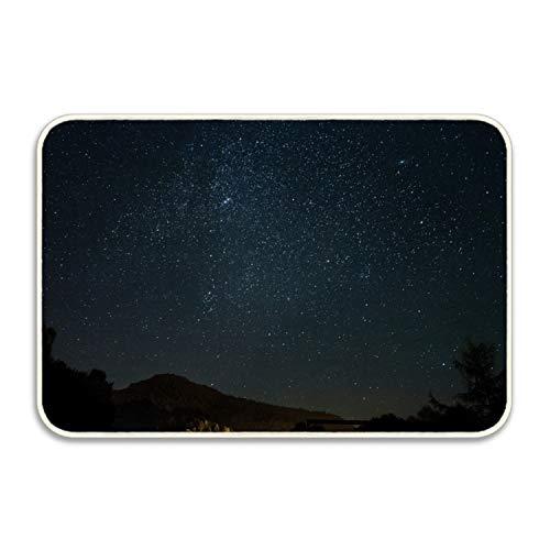 jiajufushi Welcome Mat Starry Sky in Mountains Decorative Floor Mat Kitchen,Bathroom Doormat Floor Mats