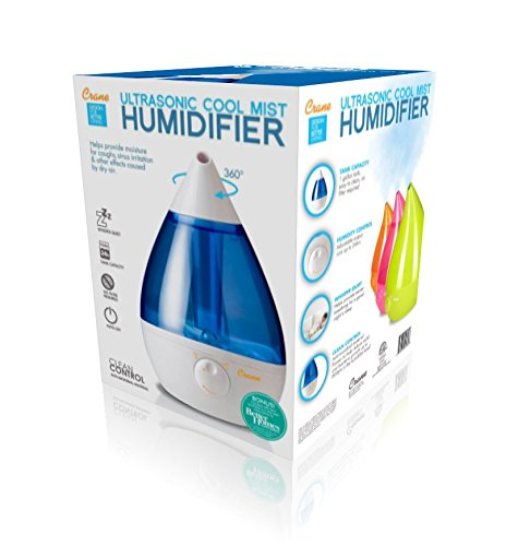 Crane Drop Ultrasonic Cool Mist Humidifier - Blue & White
