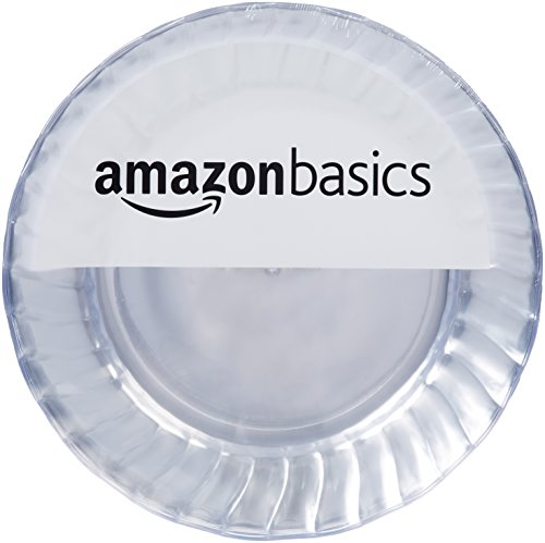 Large Product Image of AmazonBasics Disposable Plastic Plates - 50-Pack,  10.25-inch