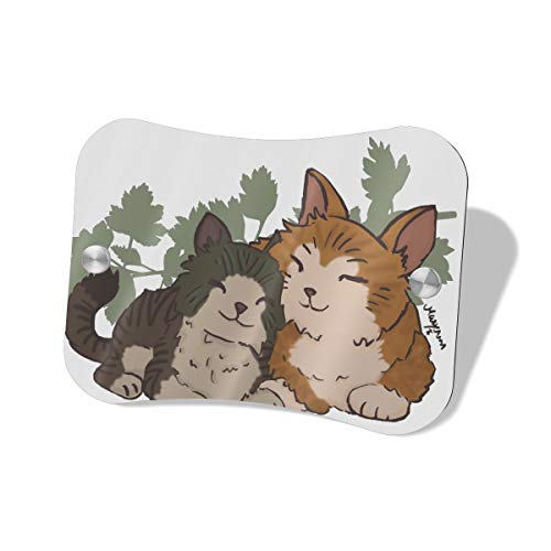 Anonymous Guest Door Sign Cat Couple Hanging Door Sign for Office Commerical Use5.57.5 -