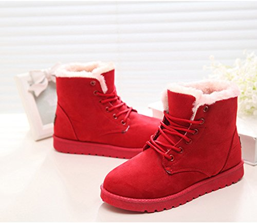 Summer Red Ankle Womens Another Warm Short Lace Snow Boots up Boots Winter ZSdPTw