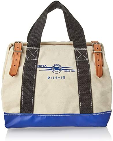 "ESTEX(エステックス) TOOL BAG 12"" Natural Cotton L31xW19xH25cm 2114-12"