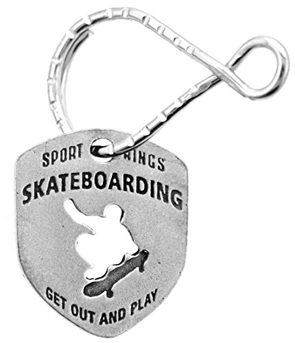 (Skateboarding Sports Reversible Do It, Live It, Be It Get Out and Play Keyring)
