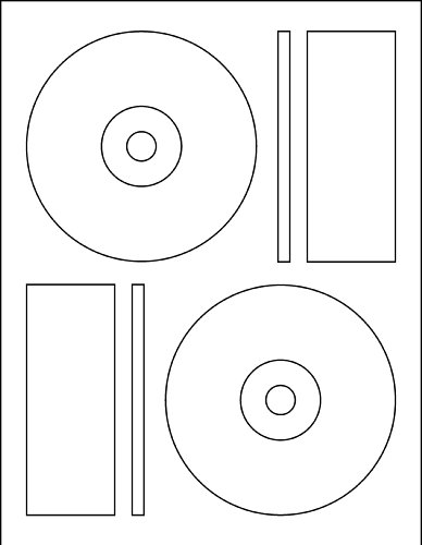 1000 CD DVD Labels Matte White Memorex Core Compatible (Memorex Cd Matte Label White)