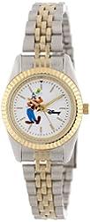 Disney Women's D112S776 Goofy Two-Tone Bracelet Watch