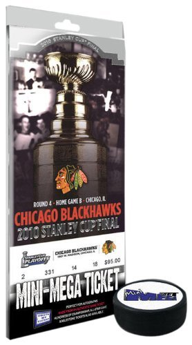 NHL Chicago Blackhawks Mini-Mega Ticket - 2010 Stanley Cup Champions by That's My Ticket